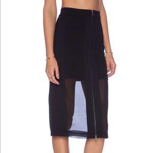NWT BCBGMAXAZRIA Black Skirt - Size 0